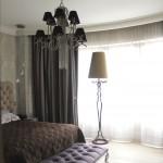 Спальня. Подвесная люстра + торшер PATRIZIA GARGANTI, Италия
